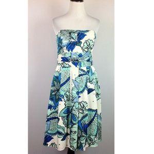 Ann Taylor Dress Womens 2 A-line Floral Strapless